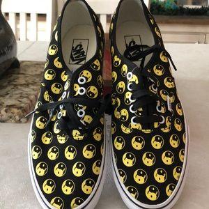 Vans lace up size 11 men's black/yellow Sappy Face